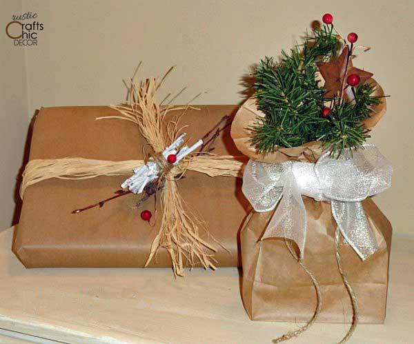rustic Christmas gift wrap