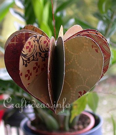 paper valentine's day craft