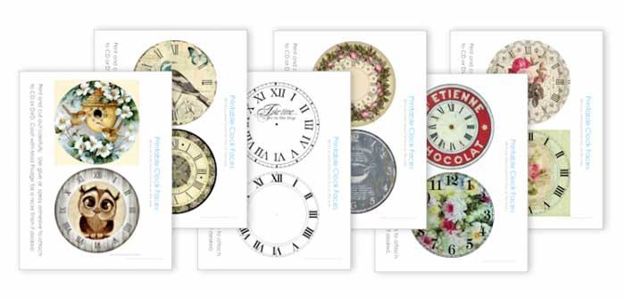 clock face printables for cds