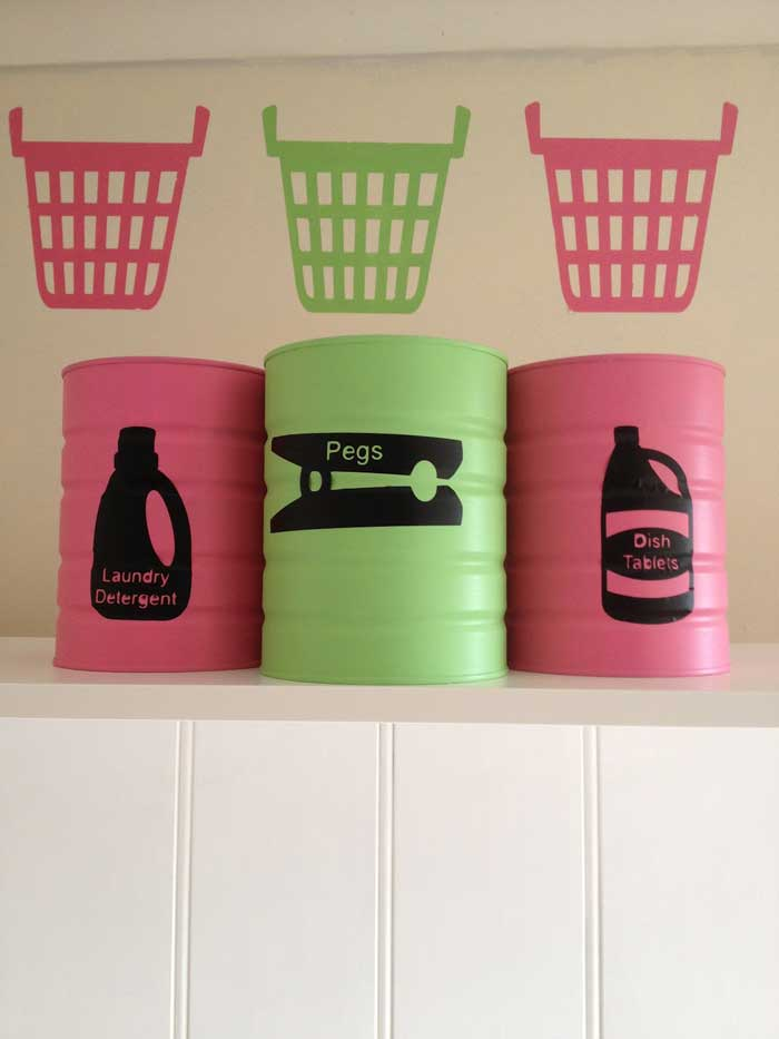 creative recycled can storage craft