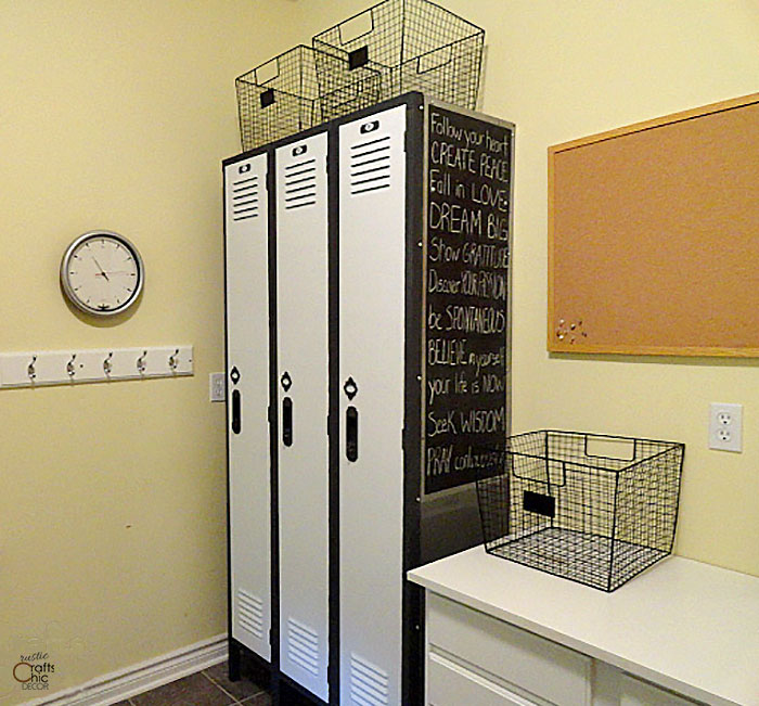 decorating with old lockers