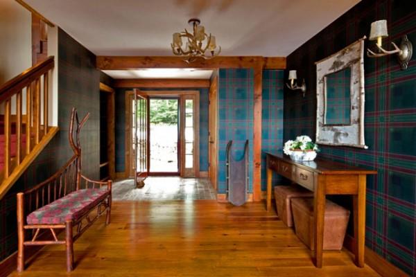 rustic spacious entryway