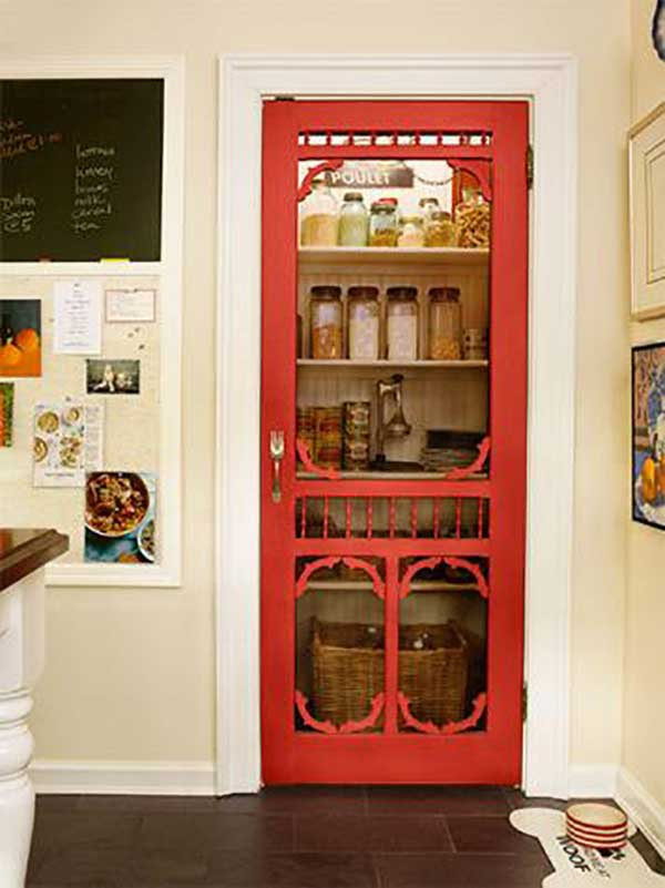 screened pantry door