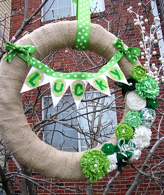 st patrick day wreath