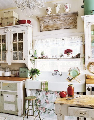 shabby chic kitchen decor