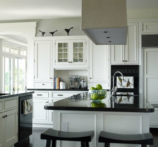 gray kitchen walls