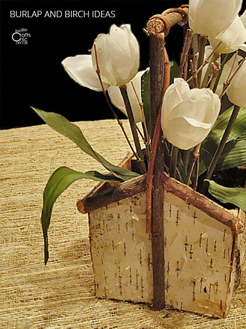 burlap and birch ideas