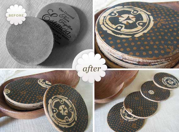 Craft Coasters To Make For Gifts - Rustic Crafts & Chic Decor