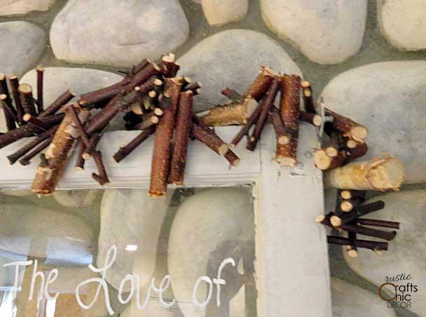 rustic birch crafts - birch branch garland