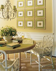 green dining area