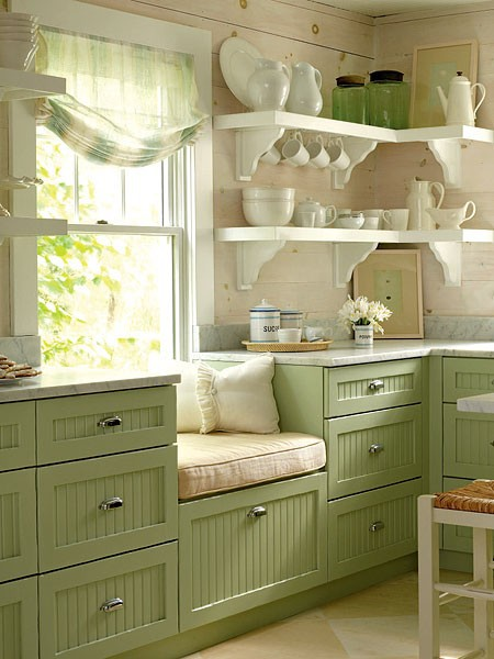 green decor in the kitchen