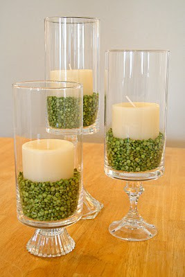 st patricks day candle centerpiece