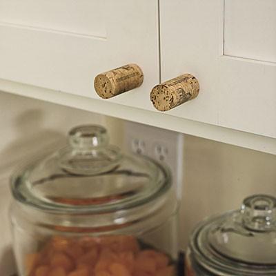 wine cork cabinet knob