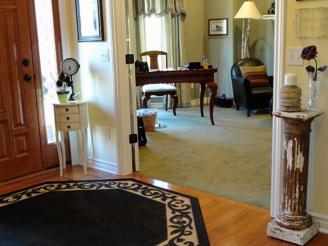 Decorating With Columns - Bring The Old And Weathered Inside ...