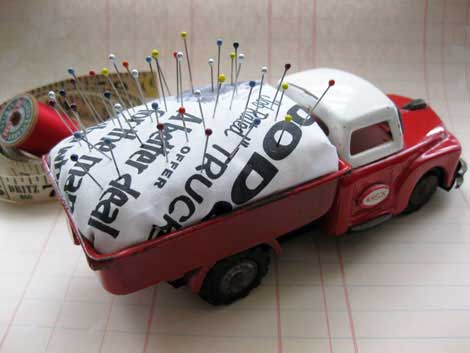 recycled match box truck