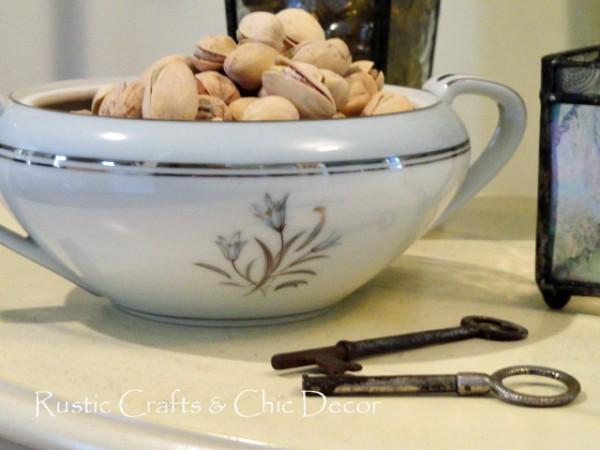 vintage sugar bowl nut dish