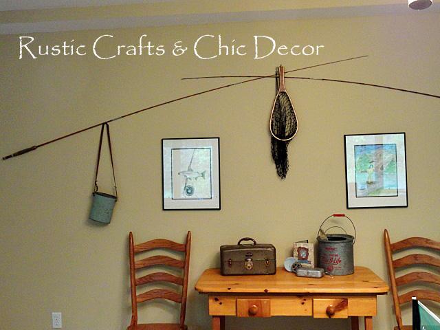 fishermen interior garage paint ideas - Vintage Fishing Decorating Ideas For Your Cabin Decor