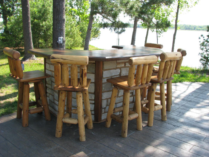 Rustic Patio Bar Retreat By Wood Furniture