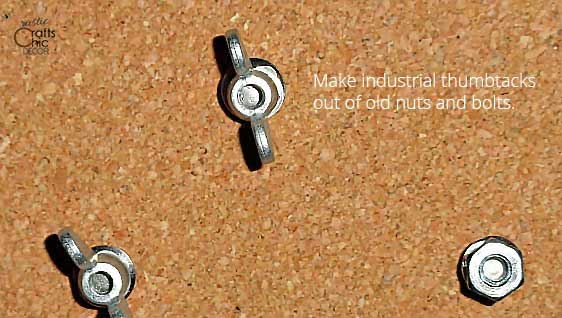 things to make out of old nuts and bolts - thumbtacks