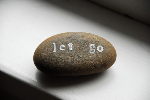 message on a stone