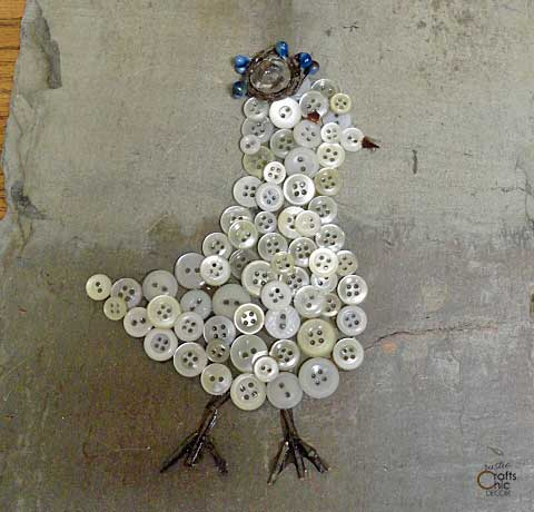 button art bird