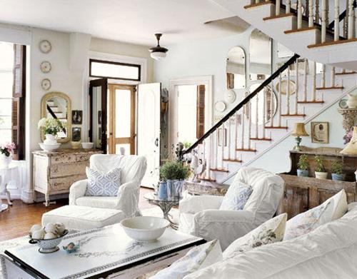 shabby chic look - living room