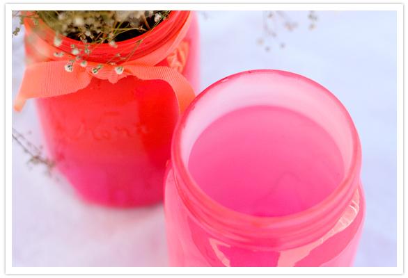 wedding crafts - colored mason jar vases