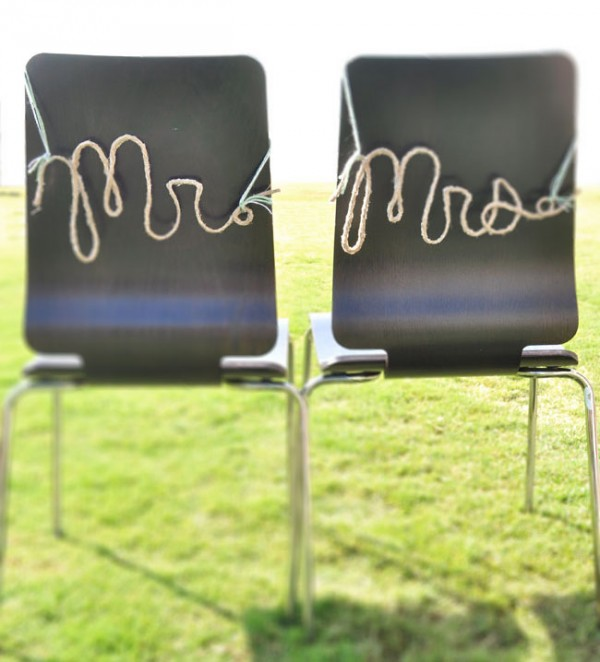 wedding crafts - rope words