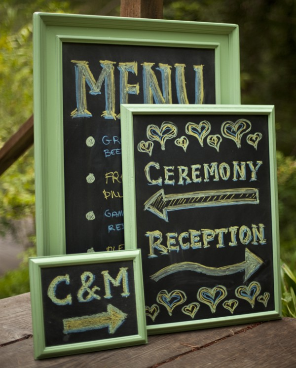 wedding crafts - chalkboard-signs