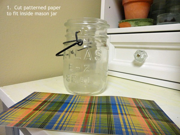 mason jar vase instructions
