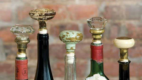 diy door knob wine stopper