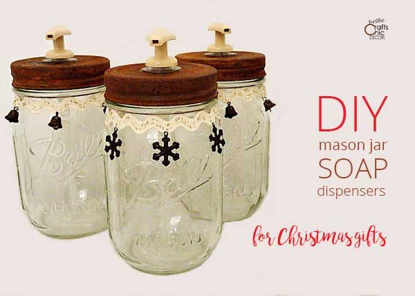 diy mason jar soap dispensers
