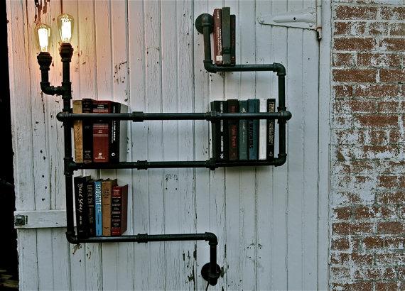 pipe-bookshelf