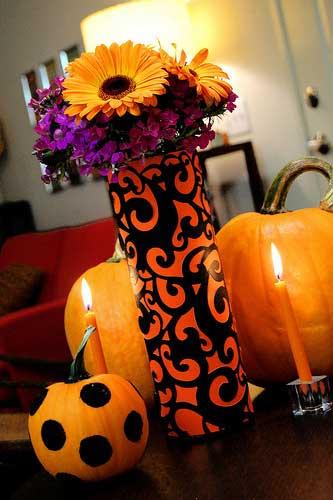 pringles can halloween vase craft