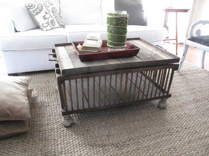 unique coffee tables - chicken crate table