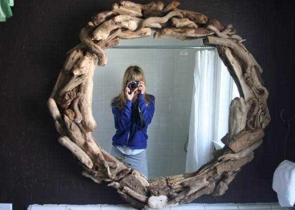 diy mirror using driftwood