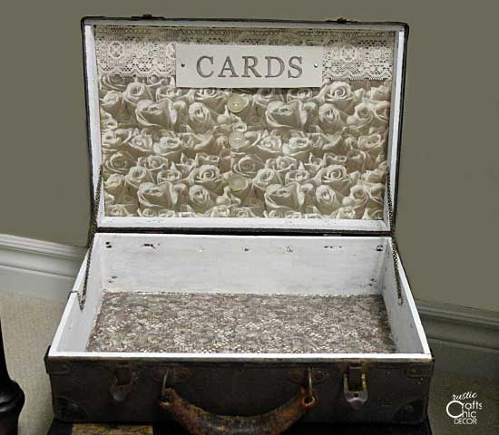 old suitcase wedding card box