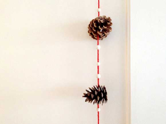 pine cone crafts garland