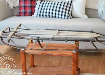 vintage sled coffee table