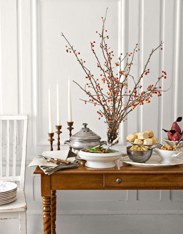 easy Thanksgiving centerpieces with branches
