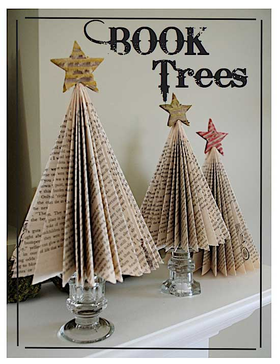 diy book page tree