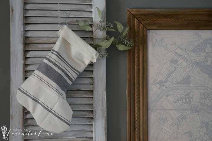 diy rustic dish towel stocking