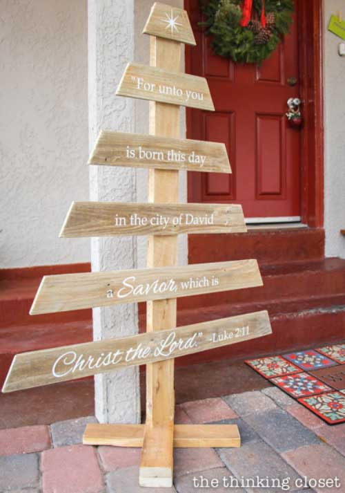 diyr rustic pallet wood christmas tree