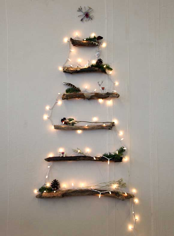DIY rustic wall Christmas tree