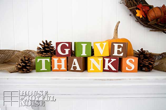 diy give thanks blocks
