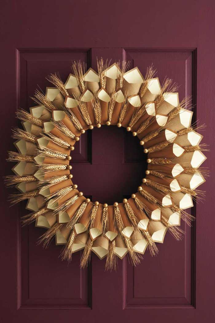 paper cone gratitude wreath