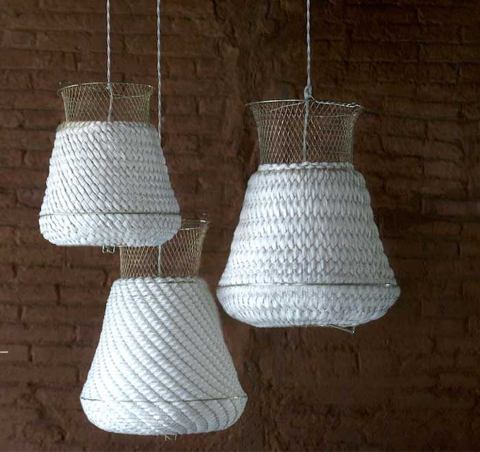 rustic chic fishing basket light fixtures