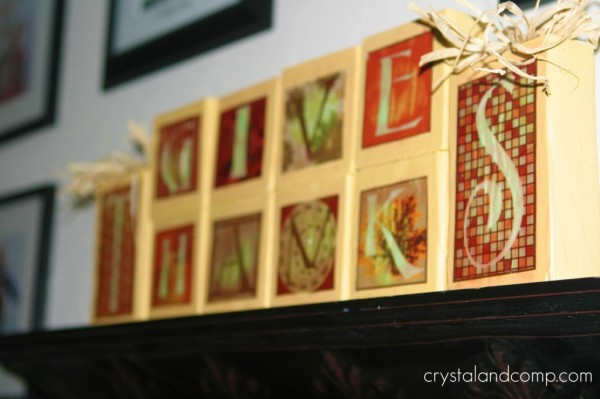 thanksgiving craft blocks