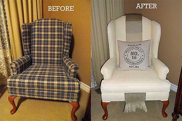 how to paint an upholstered chair by rustic-crafts.com