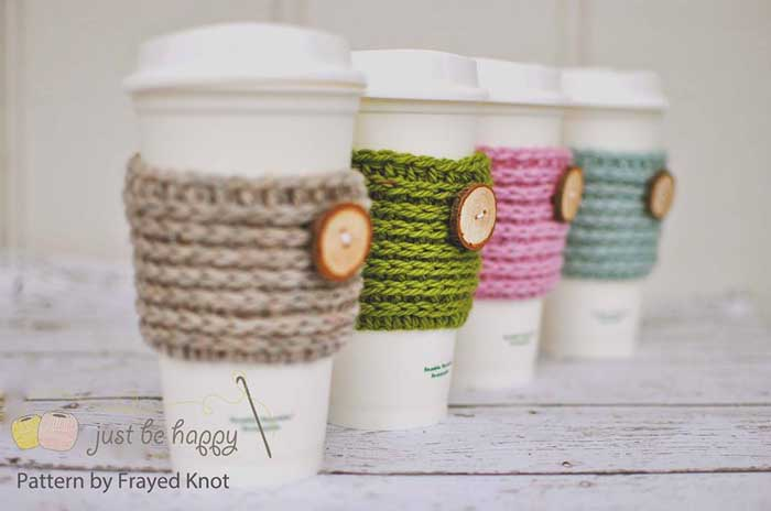 homemade cup cozy